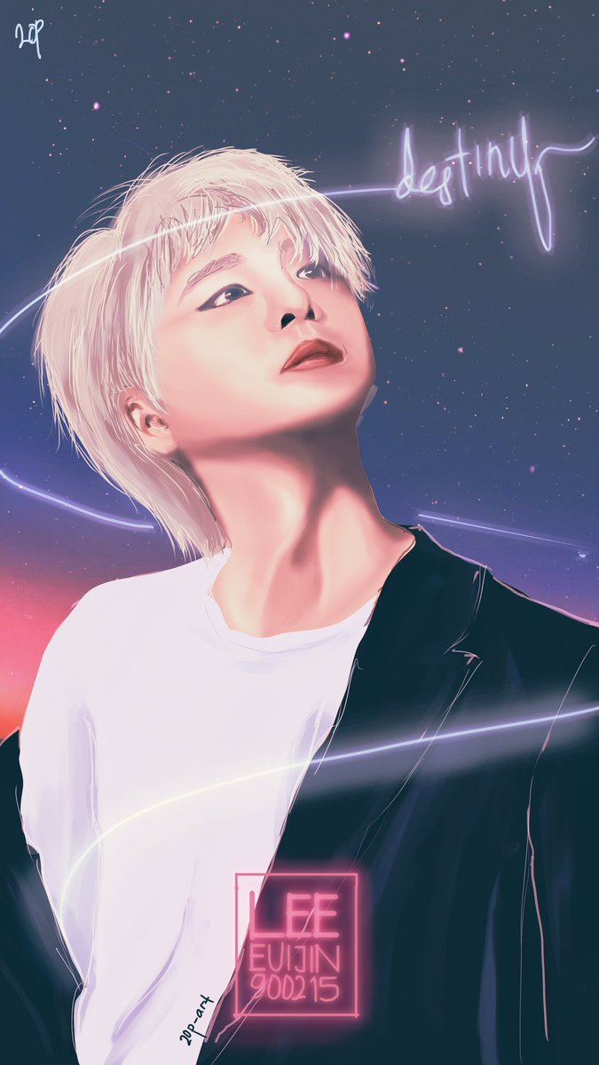 200215_DESTINY Happy birthday to this precious man, Lee Euijin! I gave this painting thru KKT GC, I hope he sees it :') Anyway, I always wish him a happy life and always be healthy! Euijin our pride~