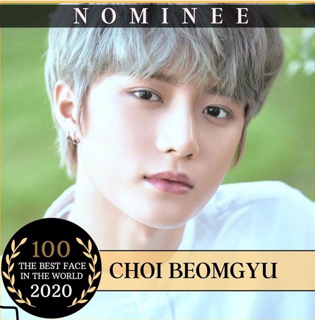 200221; بومقيو مُرشح لـأفضل وجه سنة ٢٠٢٠ موا'ز قومو بتصويت لهُ عبر دخول حساب في الانستغرام و تعليق تحت صورة بومقيو بـ ' I vote for Choi beomgyu '♡ -
