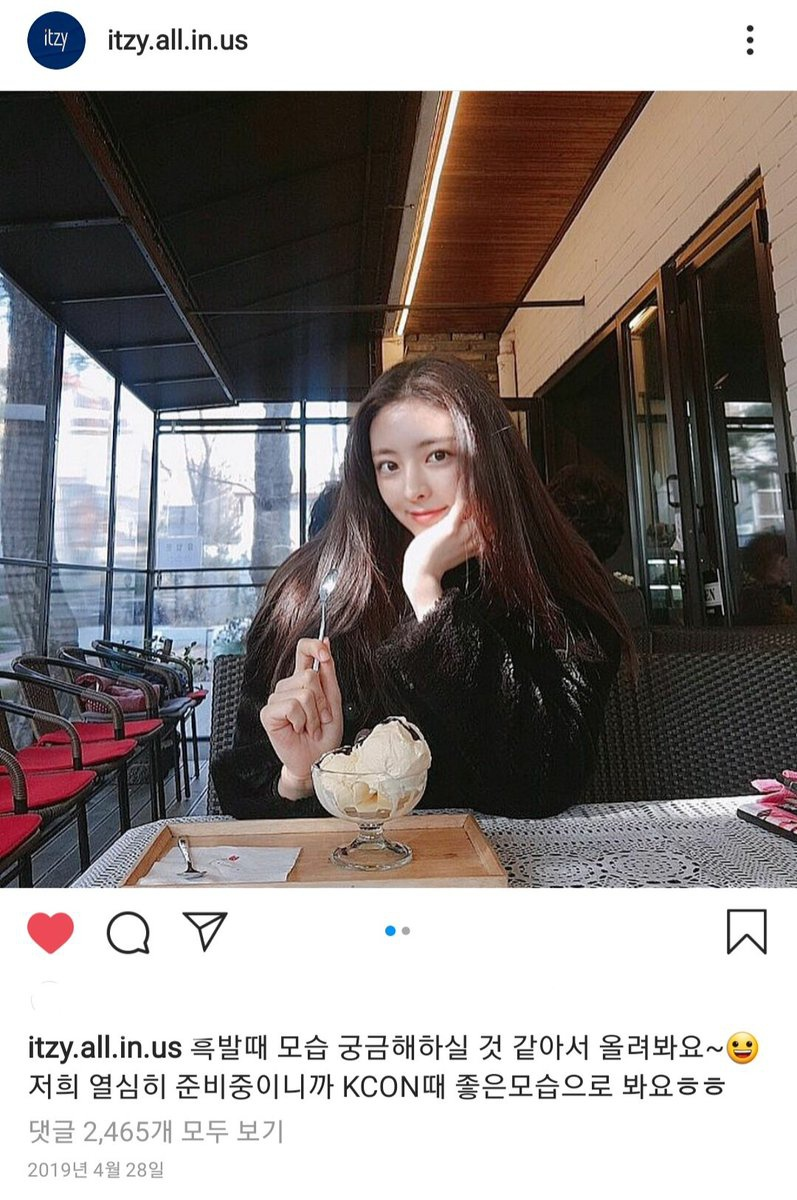 190428 ITZY OFFICIAL IG …