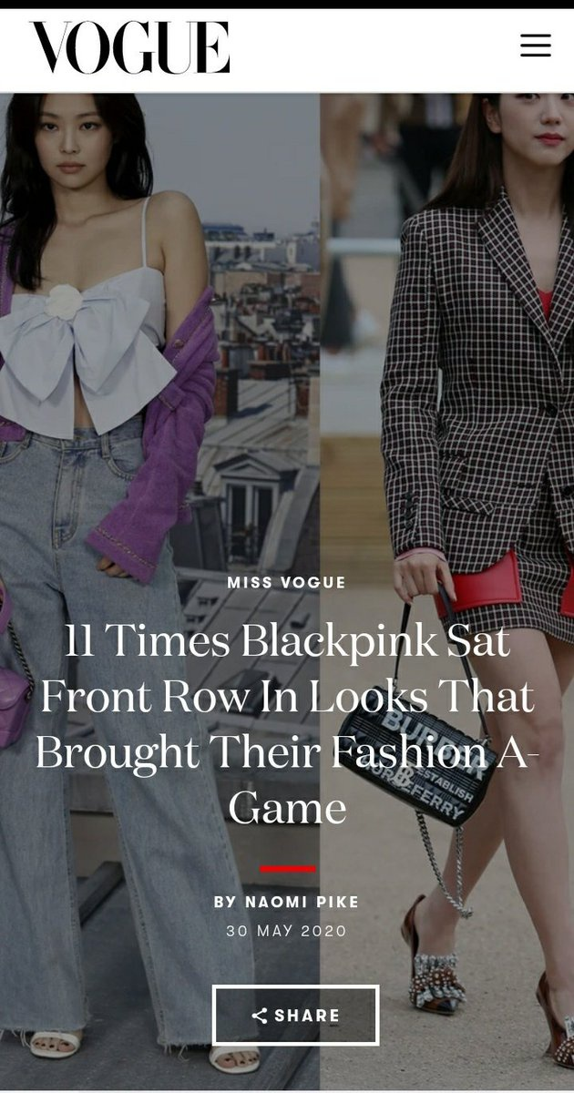 [ARTICLE] 200531 11 Times Blackpink Sat Front Row In Looks That Brought Their Fashion A-Game 🔗 …_1