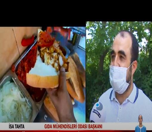 """TMMOB Gıda Mühendisleri Odası İstanbul Şubesi Yönetim Kurulu Başkanımız Sayın İsa TAHTA'nın """"Dönerde Yapılan Hileler"""" hakkında bilgilendirmede bulunduğu röportajı 17.06.2020 tarihinde Kanal D Ana Haber Bülteninde yayınlanmıştır."""