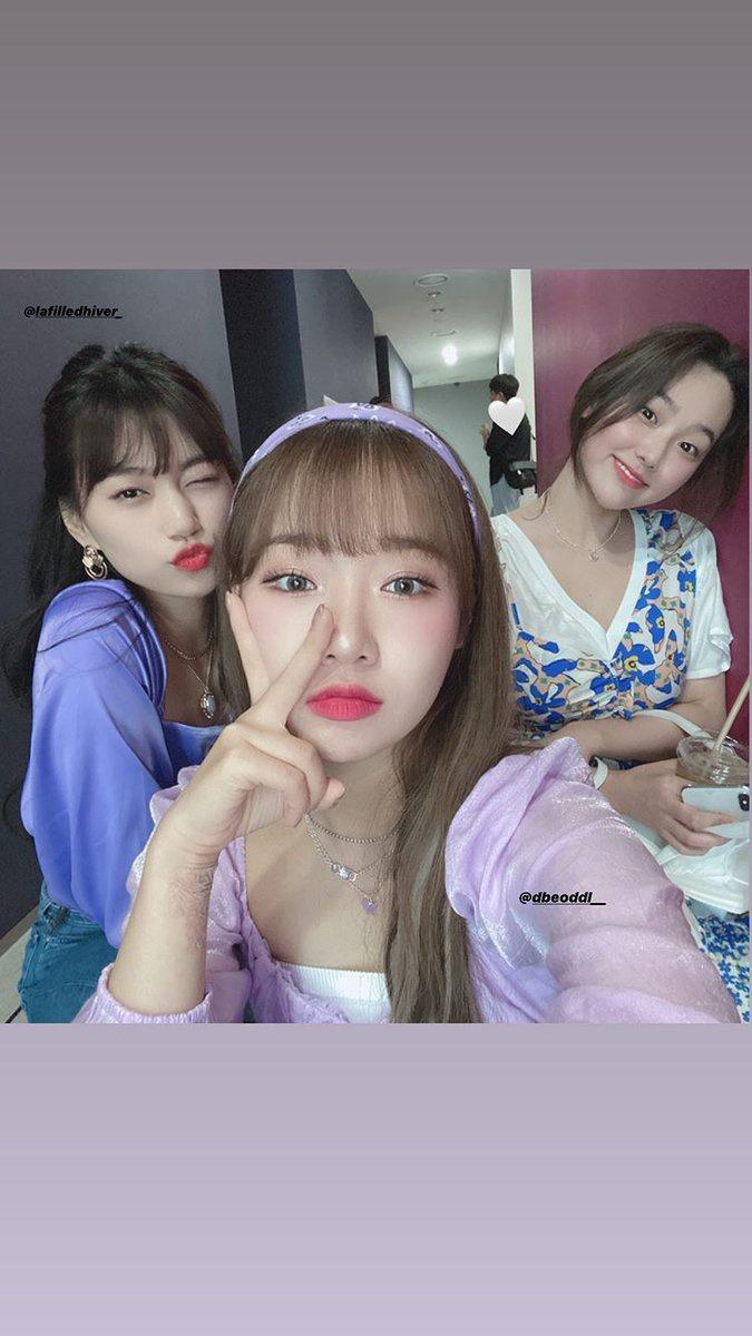 [ 040720 | Mina(Gugudan) postou foto com a Dodo e Yoojung