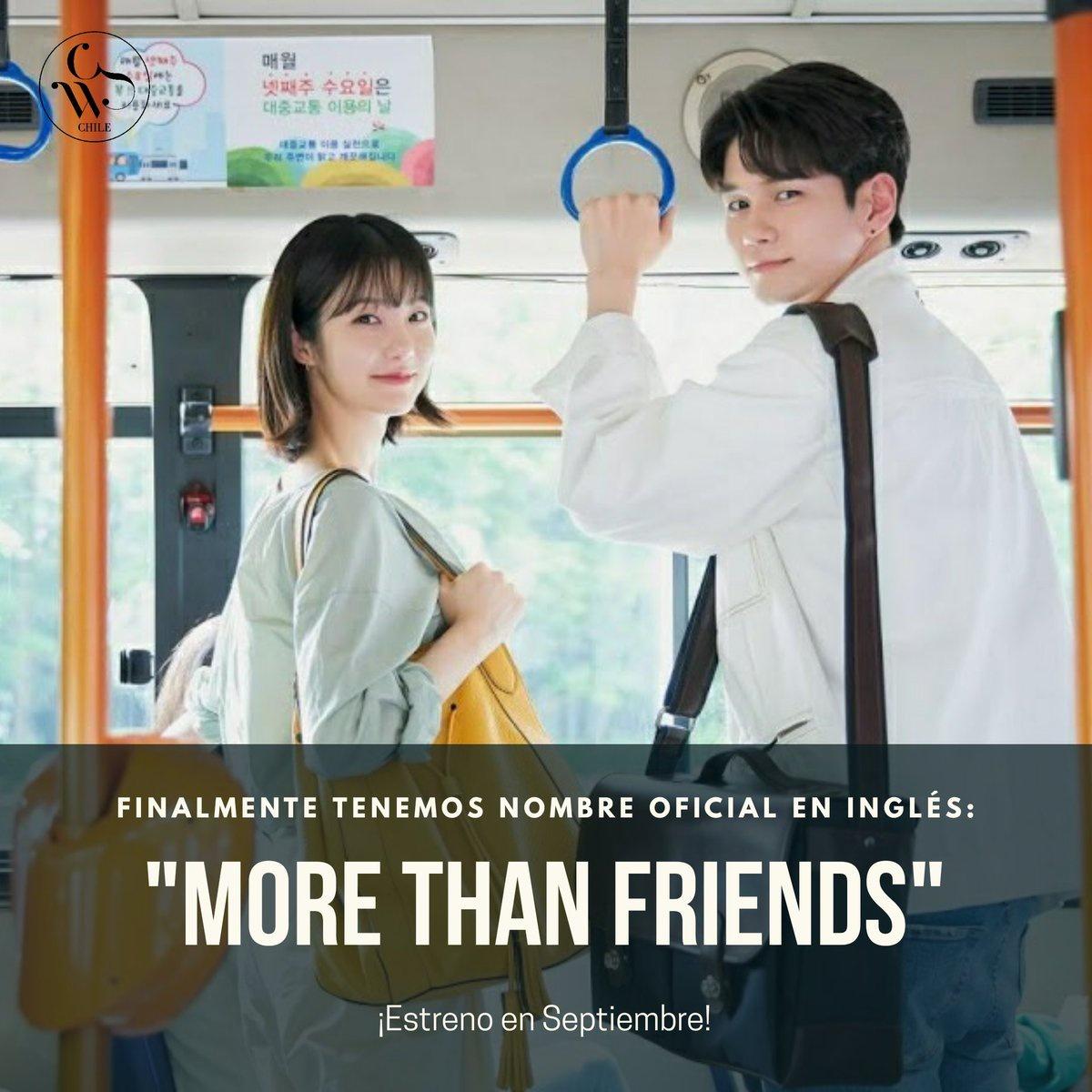 "[‼ | 200808] 🦁 JTBC ha confirmado que el nombre en inglés del nuevo drama de Seongwu es ""More Than Friends"". ㅤㅤㅤㅤㅤㅤㅤㅤ Cr. JTBC"