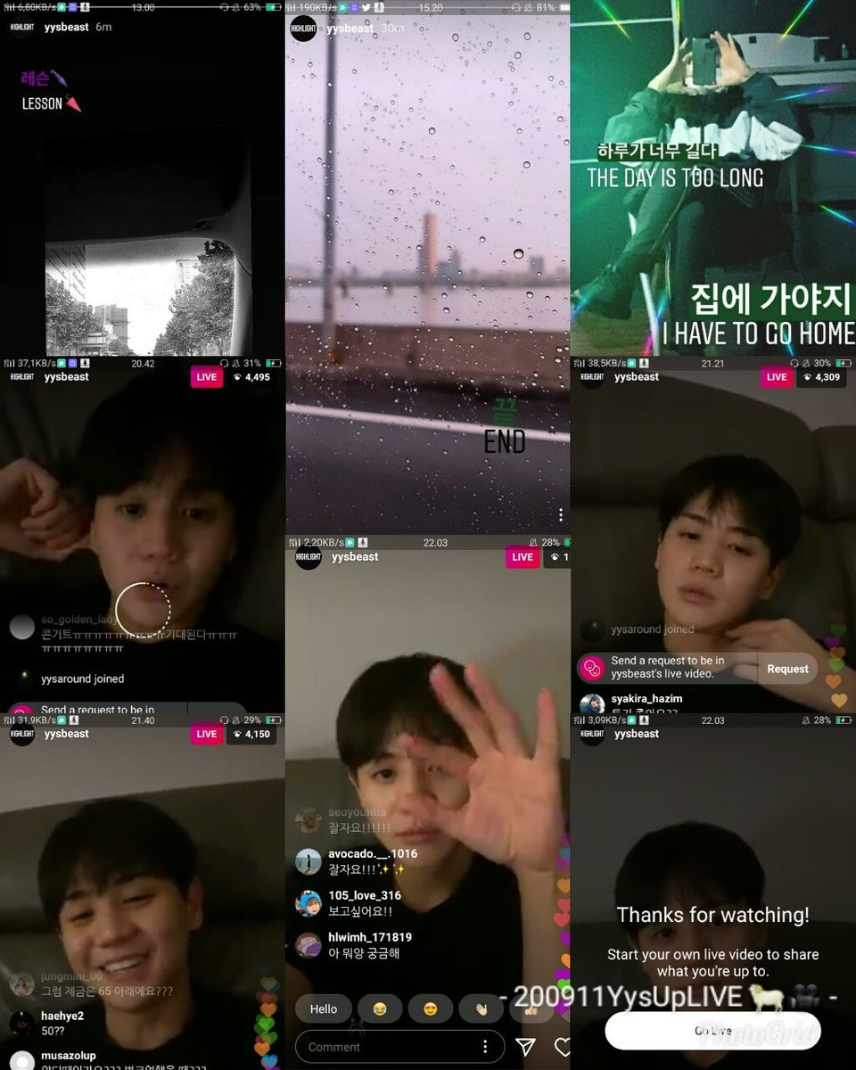 200911 Although Bad Signal 📶 But...... Lucky I Can See Your IG Live M Y 🌟Star Thanks For Your Updates And IG Live 😍😭💖