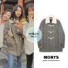 200205 on Oh My Girl Japan twitter update wearing Monts - check duffle coat ₩152,100