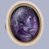 Intaglio, Hercules in female attire (amethyst, gold), France 16th c. . As punishment for the murder of Iphitus Hercules was commanded by the Delphic Oracle to become a slave to Queen Omphale …
