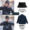 200402 BX STYLE 💙Raucohouse KNIT DOWN BUCKET HAT-17,000KRW 💙NERDY Padded Flannel Shirt Jacket Navy-179,000KRW