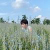 200629 Weibo微博 イェナン 🌞☁️🌷 お花畑にいる可愛いイェナンちゃん🐼💕_2