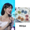 200605 - fanmeeting wearing Miniya - flower pastel earrings ₩30,000