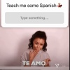 200726 Minzy's Instagram Story Update Minzy wants to learn Spanish. Go teach her!