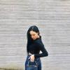 200906 화사 @ _mariahwasa IG # 가방 델보(Delvaux) Pin Mini Bucket Jeans Sahara / Denim - Noir 가격미정 …_1
