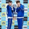 """140920][ Actualización] El día 14, se llevó a cabo la grabación del especial """"Idol Sports Championship"""" de MBC en Chuseok En este día, PENTAGON (Yuto, Wooseok ) participa en el concurso Battleground Mobile y posa._2"""