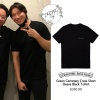200916 eskimo7474 IG update with daesung: CHROME HEARTS green ceme­tery cross short sleeve t shirt black ($350.00).