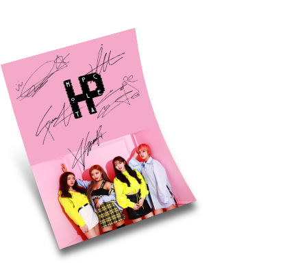 HOT PLACE Autographed Mini Poster (A4 Size)